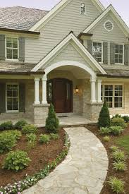 traditional craftsman homes craftsman pillars and stone a close up of the front entry of the