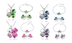 lucky leaf bracelet images Up to 86 off on lucky charm four leaf clover groupon goods jpg