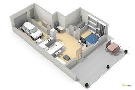 appartement avec une chambre appartement 1 chambre avec garage et terrasse proche de la frontière