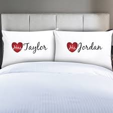 his and hers pillow cases personalized couples his hers pillow cases monogram online