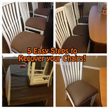 dining room reupholster chairs chair seats with plastic diy how to make covers
