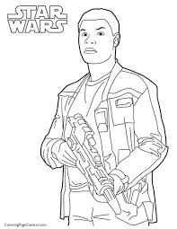 star wars u2013 finn 01coloring page coloring page central