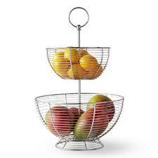 tiered fruit basket silver wire fruit basket williams sonoma