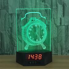 Schlafzimmer Temperatur Baby Aliexpress Com Wecker Acryl 3d Kalender Schreibtischlampe Led