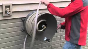 water hose reel wall mount how to winterize your garden hose reel youtube