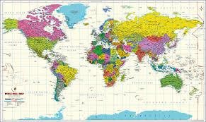 map of tge world buy world map