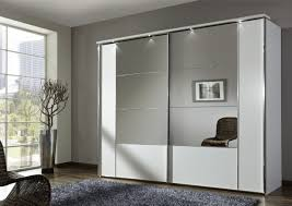 mirror design ideas gray wall wardrobe with mirrored sliding