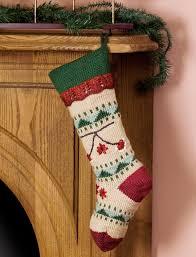 caron folkways christmas stocking knit pattern yarnspirations
