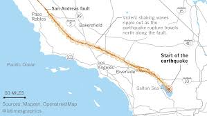 La County Map California Could Be Hit By An 8 2 Mega Earthquake And It Would Be