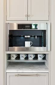 More Design Build Built in Coffee Station with Miele Coffee Maker