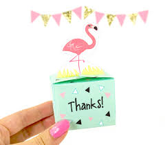 diy favor box template printable diy flamingo thank you favor boxes printable pdf favor boxes