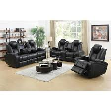 DeNatali Piece Black Living Room Set Free Shipping Today - Three piece living room set