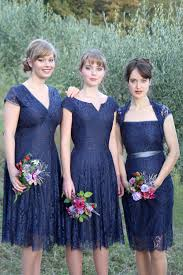 blue bridesmaid dresses bespoke lace bridesmaid dresses midnight blue by nancy mac