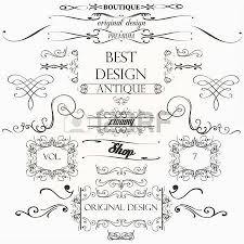 set of vintage decorations elements flourishes calligraphic