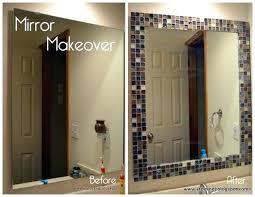 bathroom mirror trim ideas bathroom mirror frame ideas home design ideas and pictures
