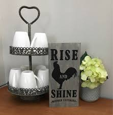 rustic home decorating rise and shine mother cluckers wooden sign farmhouse home decor