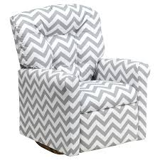 rocking and reclining chair kids gray fabric rocker recliner