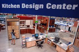 Lowes Kitchen Design Center A Customer Shops Inside The Kitchen Design Center Area Insid