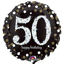 50th birthday balloons delivered sparkling 50th birthday balloon delivered inflated in uk
