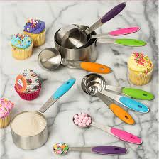useful 10pcs kitchen tools cooking stainless steel measuring cups