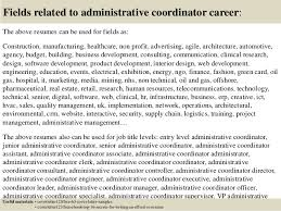 sample cover letter for administrative coordinator executive