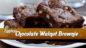 eggless chocolate walnut brownie recipe easy dessert recipe