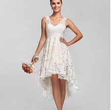vinca sunny 2017 lace high low beach wedding dresses cheap bridal