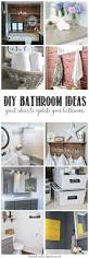 Diy Bathroom Storage by 125 Best Diy Bathroom Ideas Images On Pinterest Diy Bathroom