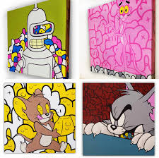 the blot says u201c30 days of jerk u201d pop culture painting series by