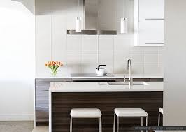 Dazzling Kitchen White Glass Backsplash - Modern backsplash