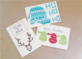 christmas diy christmas cards with masking tape modes blog