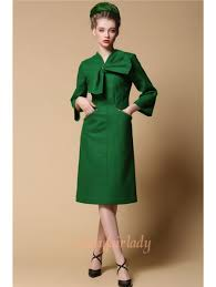 wool dress green wool bow vintage 1950s dress jpg