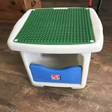 duplo table with storage step 2 duplo table with storage preschool daycare green blue