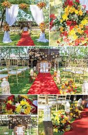 what are some good examples of rustic decorations for a wedding