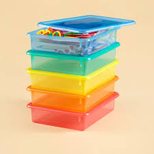 storage containers colorful see through stackable box