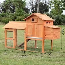 Backyard Chicken Run by Aosom Pawhut Deluxe Backyard Chicken Coop W Outdoor Run