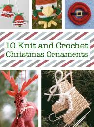 10 knit and crochet ornaments craftfoxes