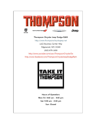 thompson chrysler jeep dodge ram dodge service contracts by thompson chrysler jeep dodge ram issuu