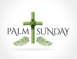 palm branches for palm sunday christian palm sunday cross theme illustration stock vector