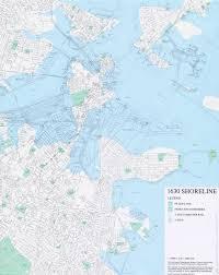 Boston Maps by Modern Map Of Boston Compared To Original 1630 Shoreline Xpost