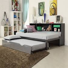 acme furniture renell twin bookcase bed with trundle 37225t