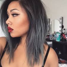 black grey hair ash grey ombre hair nail art styling