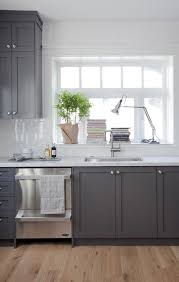 gray kitchen cabinets with white marble countertops a bit more from marrimor design studio desire to inspire