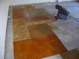 Concrete Stain Colors Pictures by Cement Floor Finishing Ideas Transform The Shoddy Wall To Wall