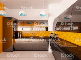 interior design of modern kitchen 3d render stock photo 120747098