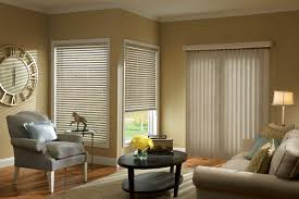 decoration awesome bay window idea using vertical blinds stylish
