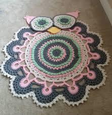 Easy Crochet Oval Rug Pattern Owl Crochet Rug Pattern All The Cutest Ideas Doily Rug Crochet