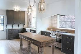 Reclaimed Wood Kitchen Cabinets Freestanding Reclaimed Wood Kitchen Island With Brass Towel Bar