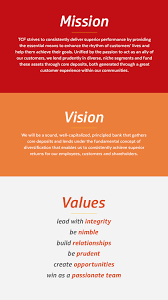 Value Statement Examples For Resumes by Mission Vision And Values Tcf Bank