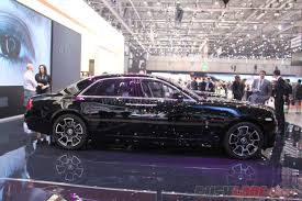 geneva motor show 2016 rolls royce ghost and wraith black badge